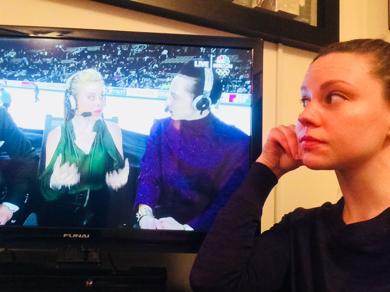 My name is Brigitte Thieme-Burdette and I play Mary Bennet in Pride and Prejudice. I spent my snow day finishing grad school applications and chatting with Tara Lapinski and Jonny Weir #olympicsjunkie