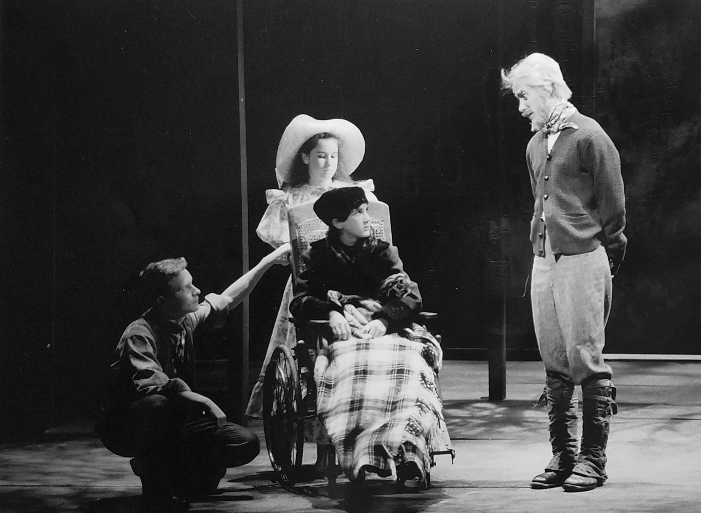 Wade Raley, Stacey Mosely, Jedidiah Cohen, and William Youmans in VSC's 1989  The Secret Garden .