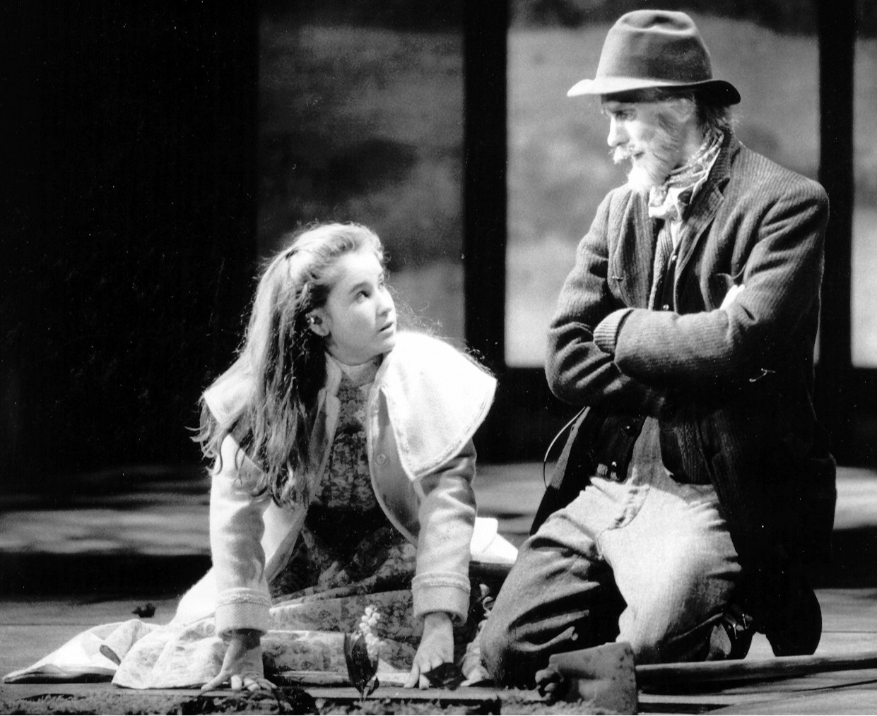 Stacey Moseley and Michael McCormick in VSC's 1989  The Secret Garden .