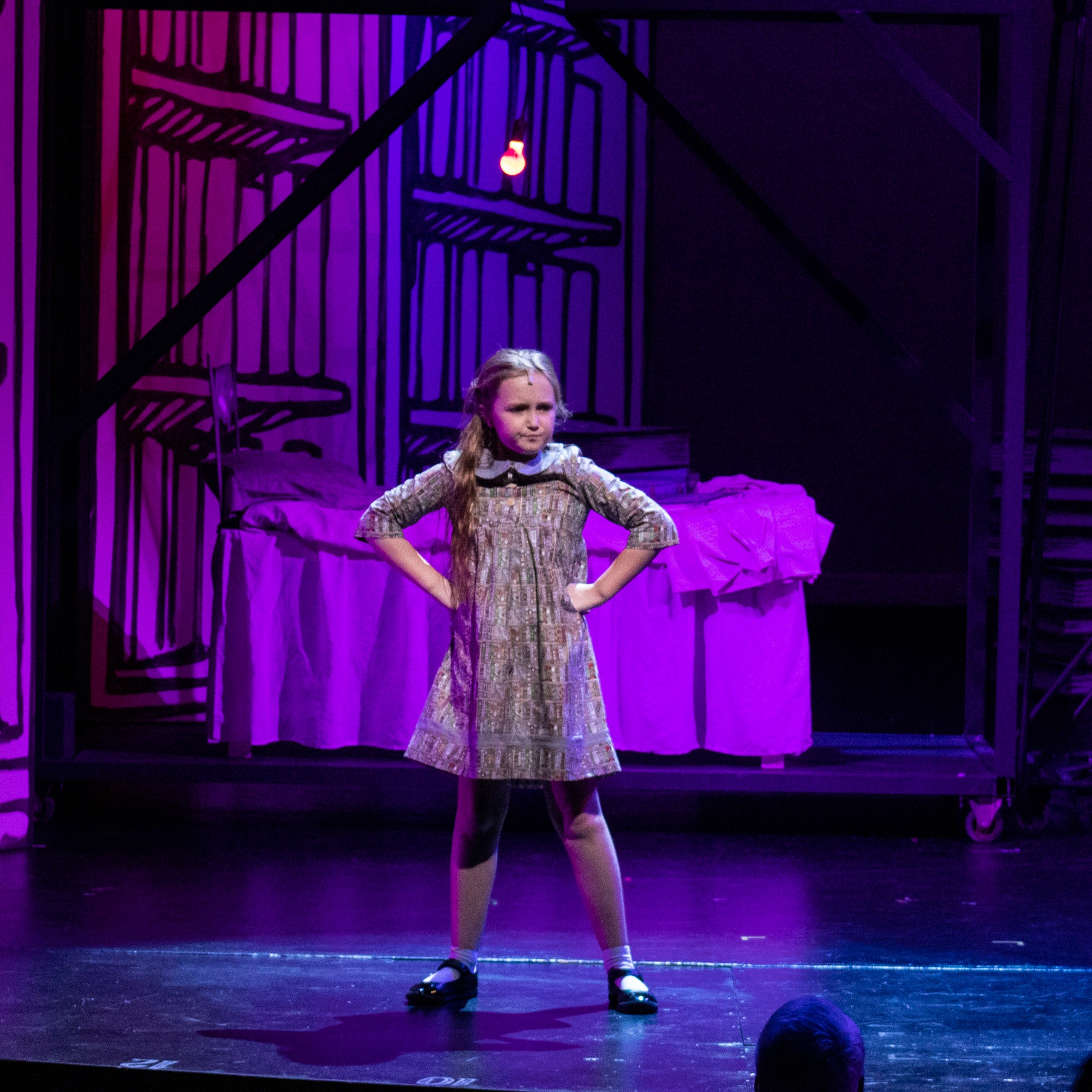 Lily Rouse as Matilda. Photo by Crystal Tuxhorn.
