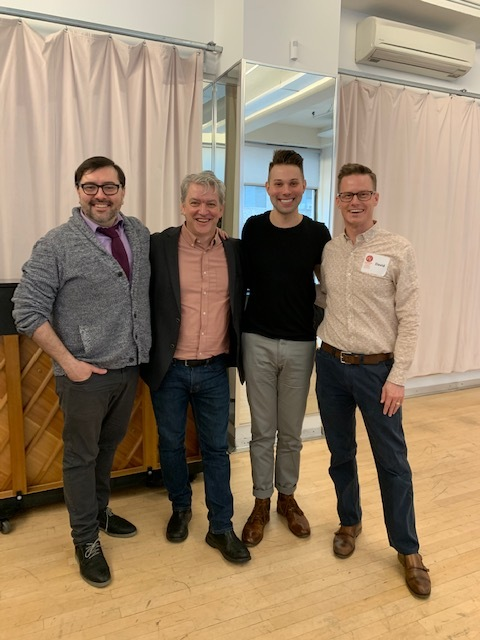 Guys and Dolls  director Nicolás Minas, VSC's Producing Artistic Director Tom Quaintance, NY Casting Chad Murnane, VSC's Managing Director David Byrd