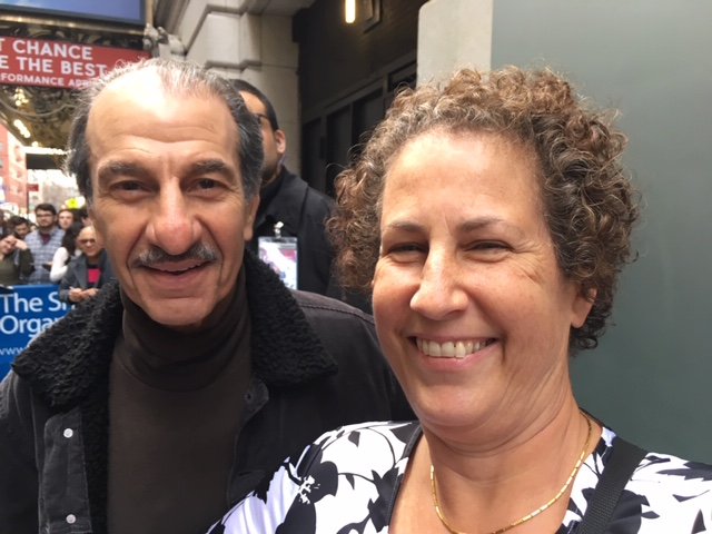 At the stage door after THE BAND'S VISIT with internationally acclaimed actor Sasson Gabai, with VSC donor Susan