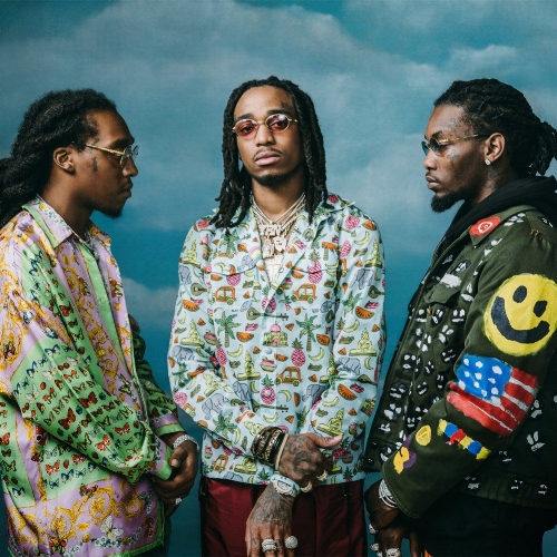 From left to right: Takeoff, Quavo & Offset