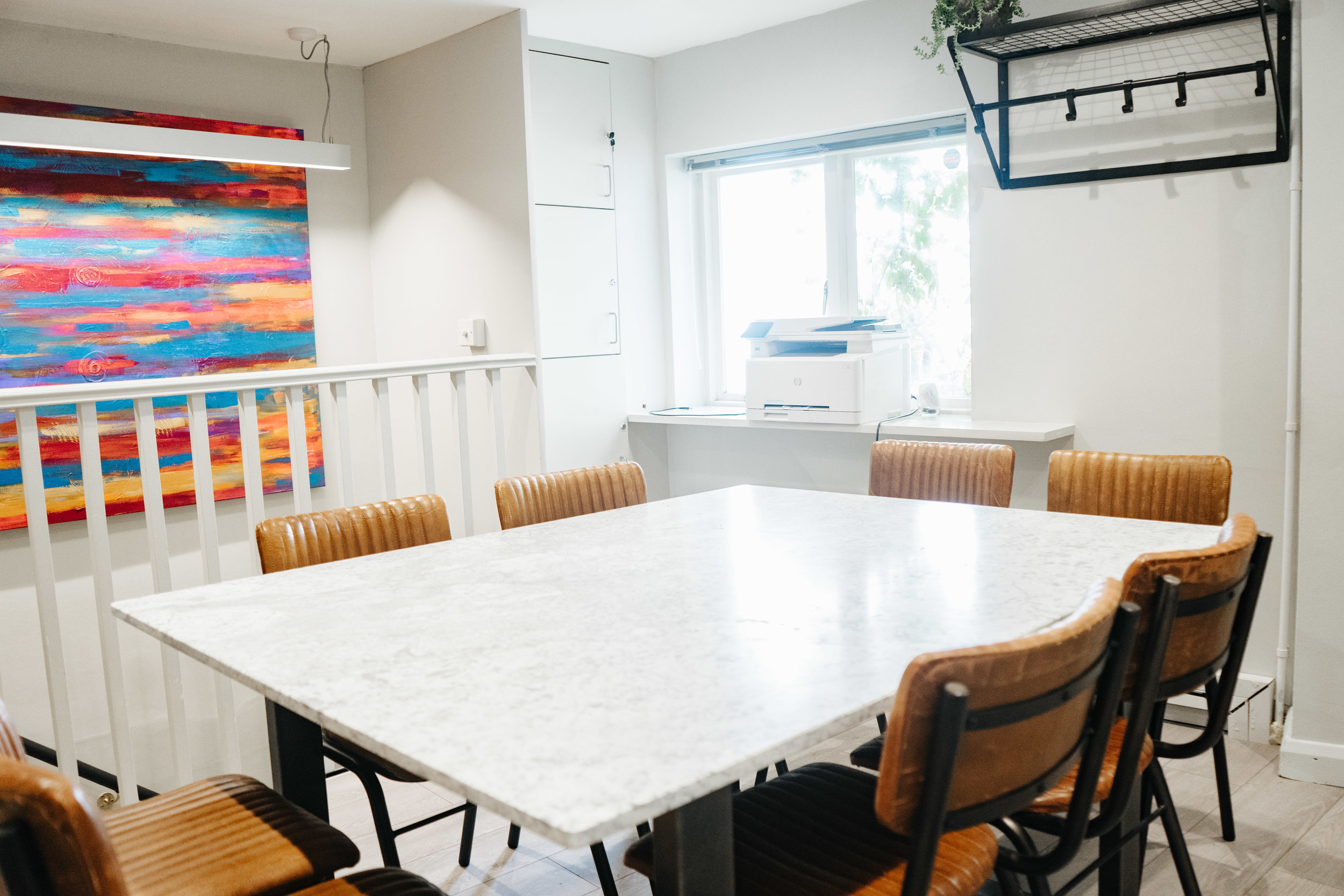 - Workspace - - Our new upstairs meeting room seats up to 8 and is equipped with modern office facilities