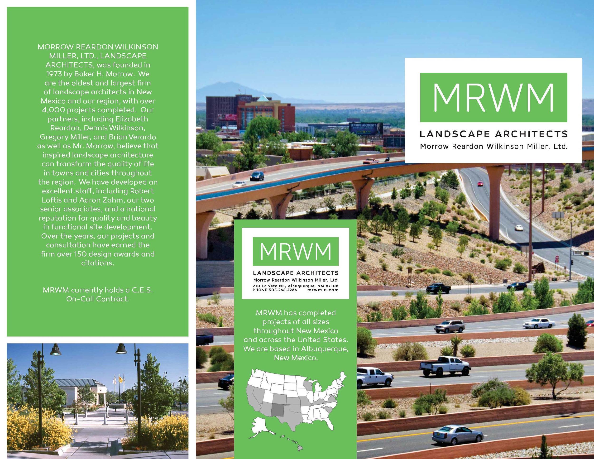 mrwm landscape architects brochure