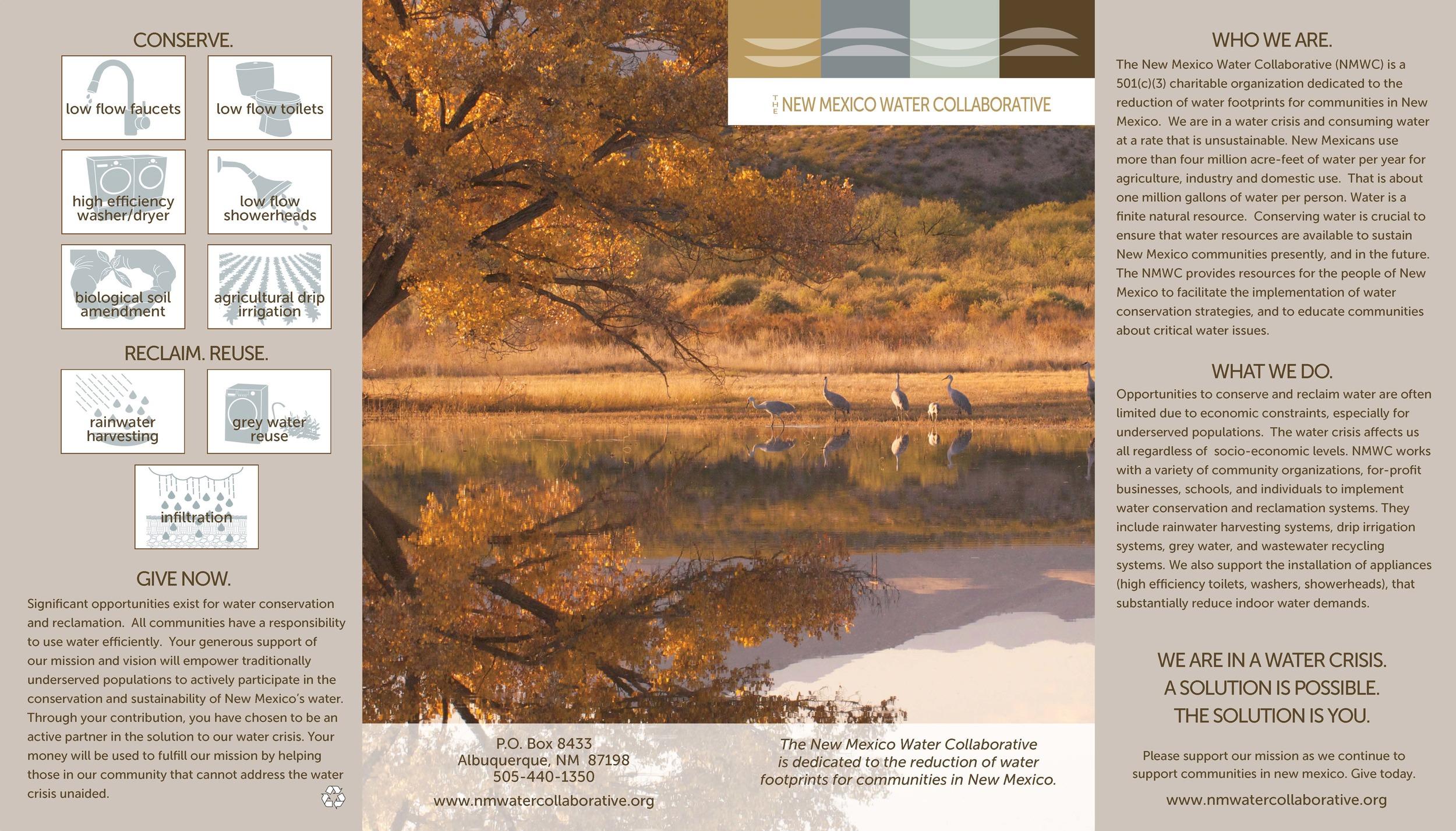 nm water collaborative brochure & marketing materials