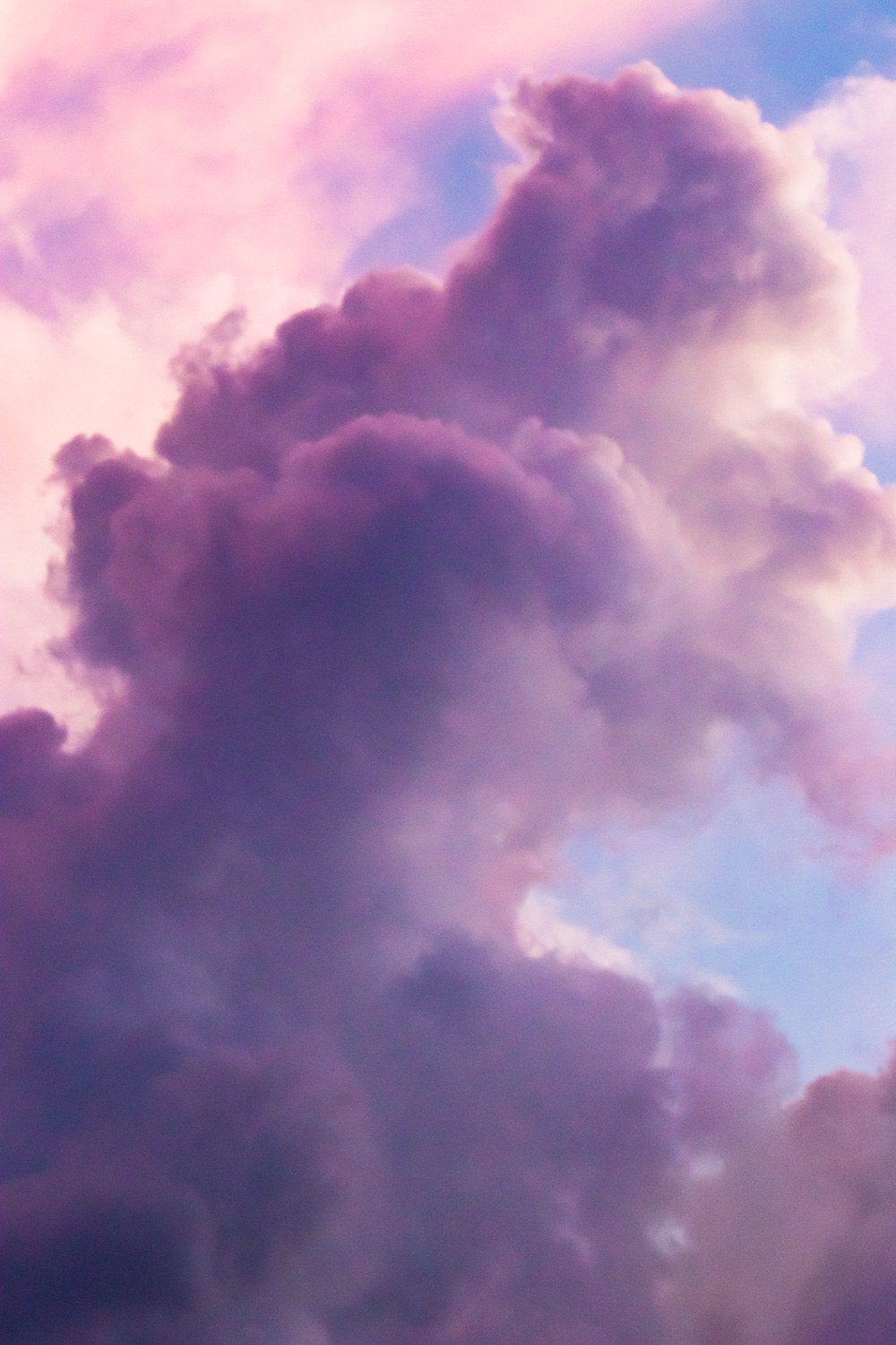 Clouds in Pink and Violet