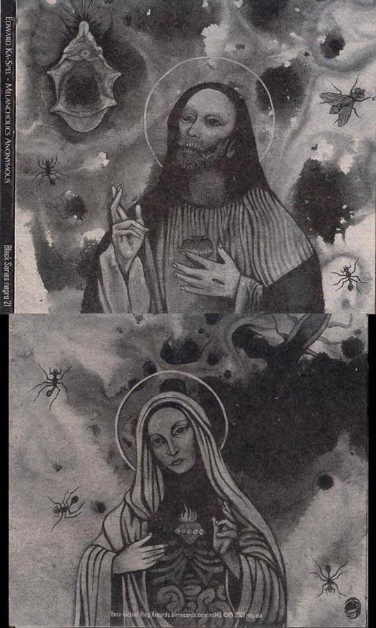 Edward Ka-Spel – Melancholics Anonymous CD Cover & Insert (2007)
