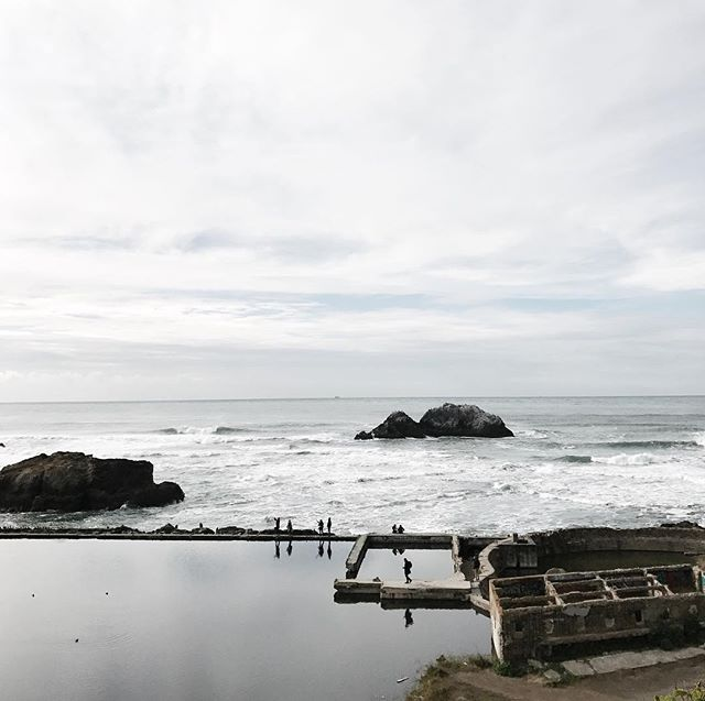 The stillness of the Sutro Baths 💙