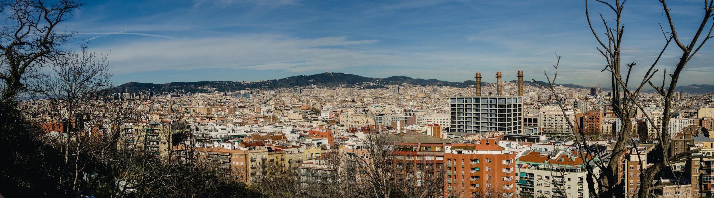 Panorama from Montjuïc