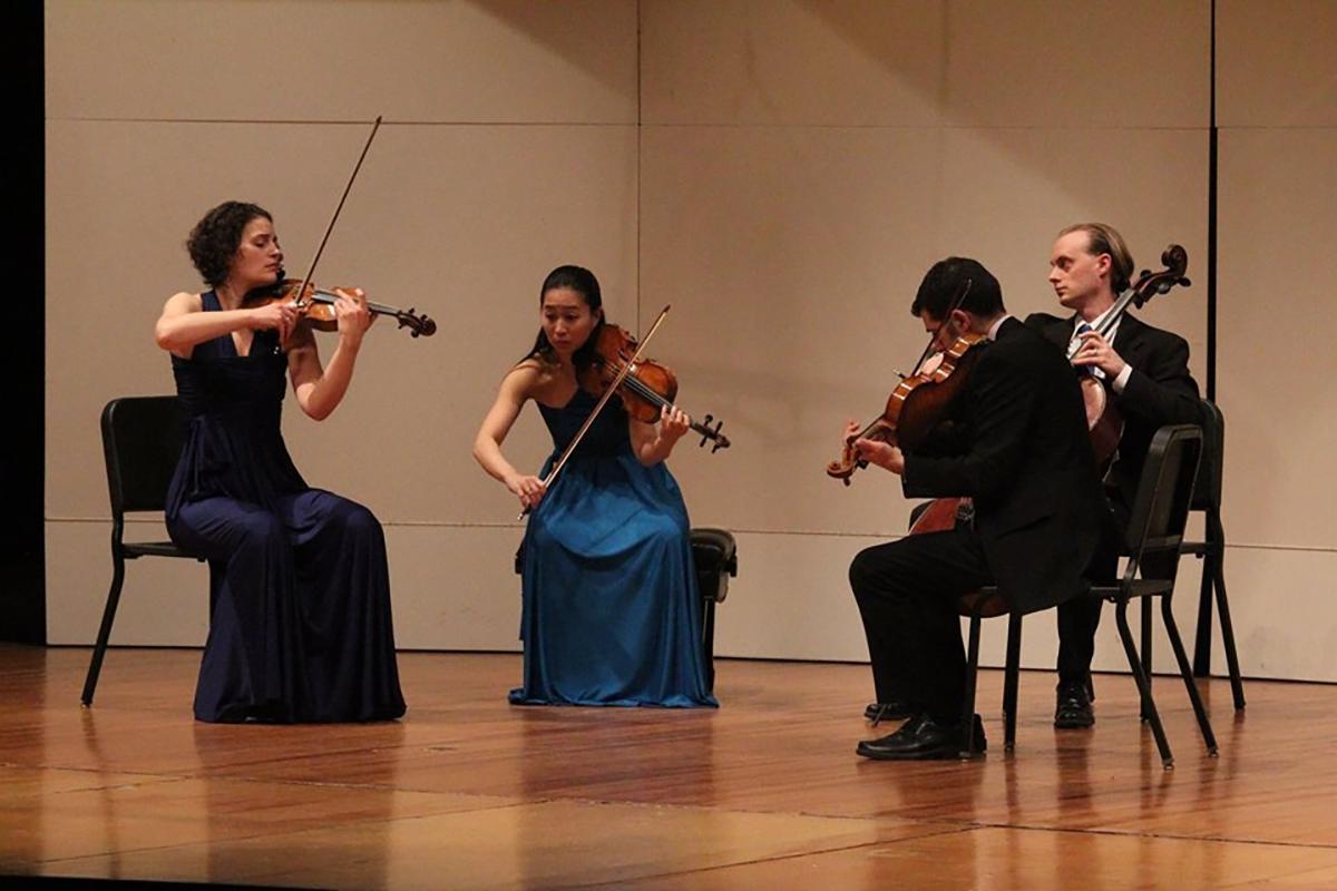 Chiara Quartet performing Brahms by Heart, 2014