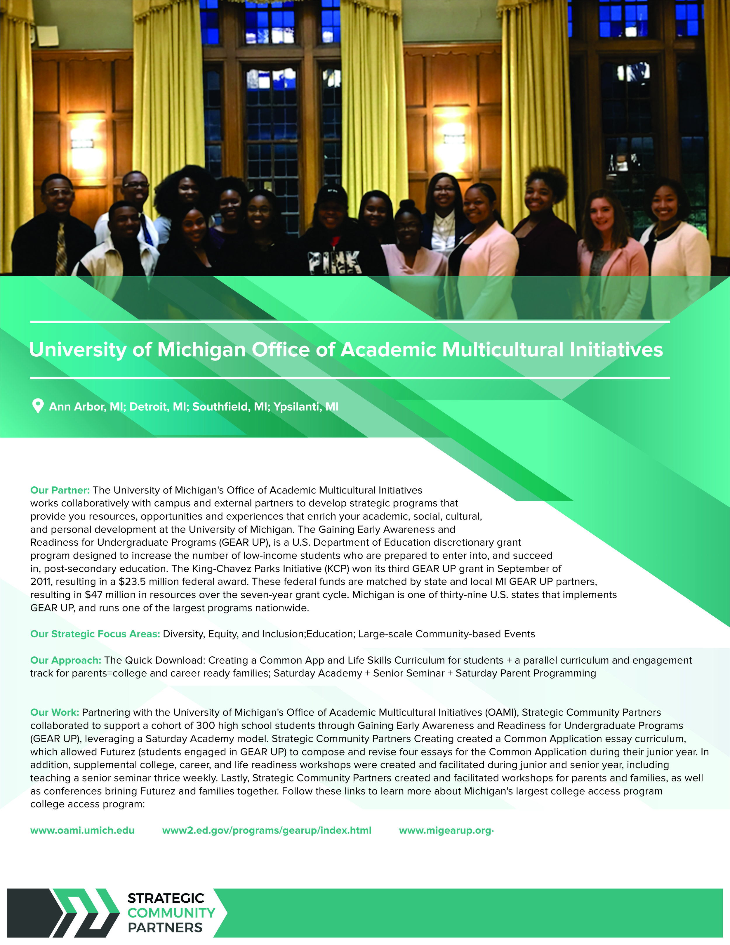 University of Michigan Office of Academic Office of Multicultural Initiatives