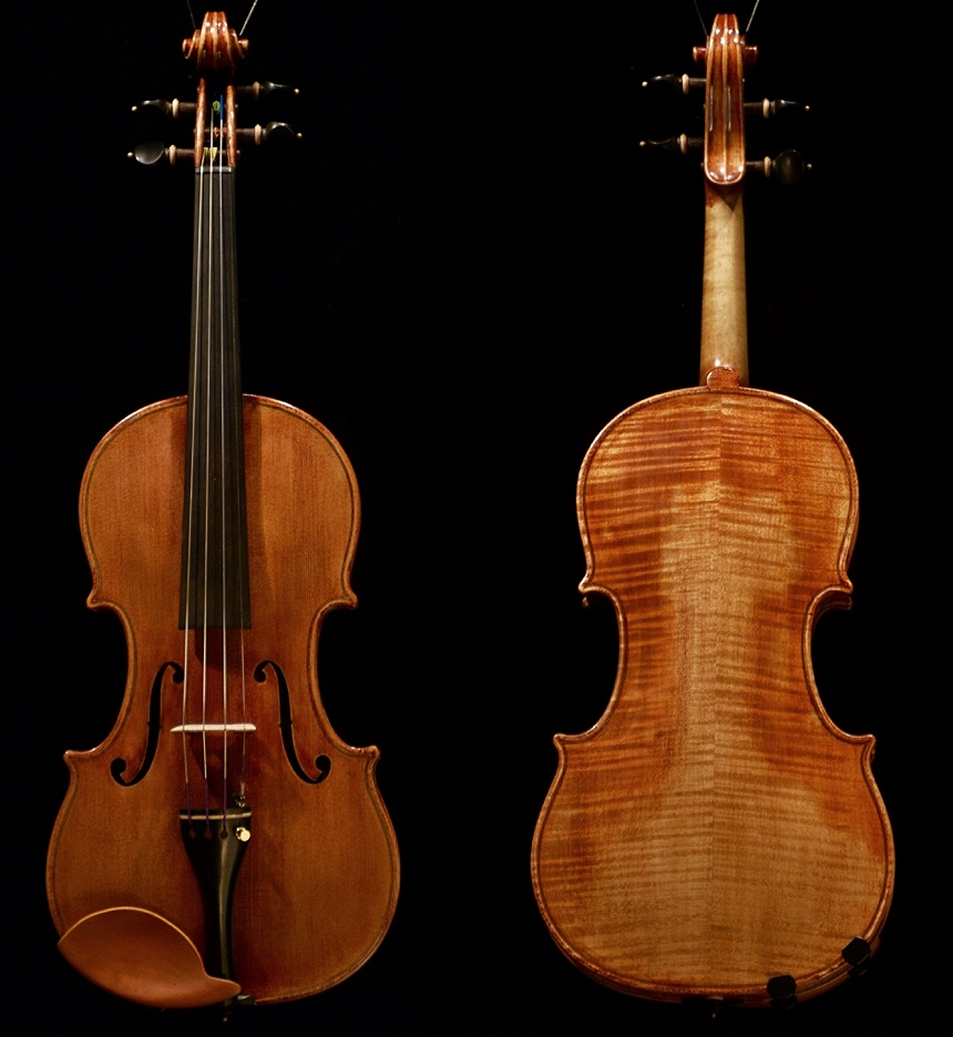 Violin by K e i t h H i l l opus 4 7 1 made in 2 0 1 5