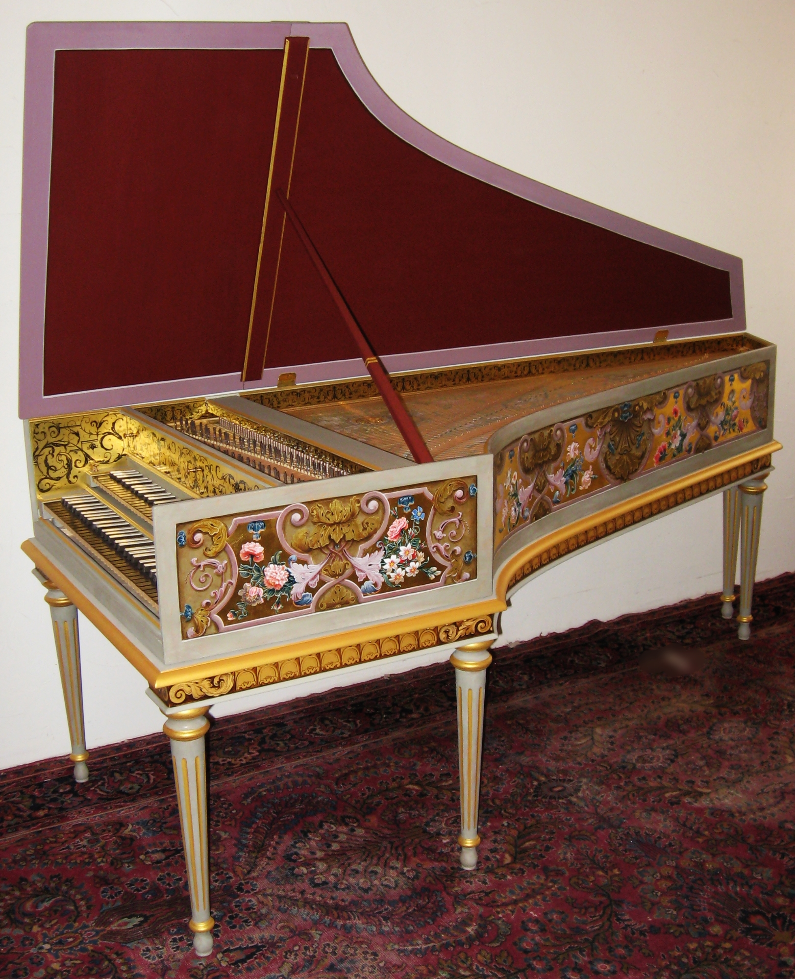 Harpsichord after f. blanchet in paris, france my opus 3 9 8 made in 2 0 0 8 belongs to Elizabeth Farr in boulder, colorado