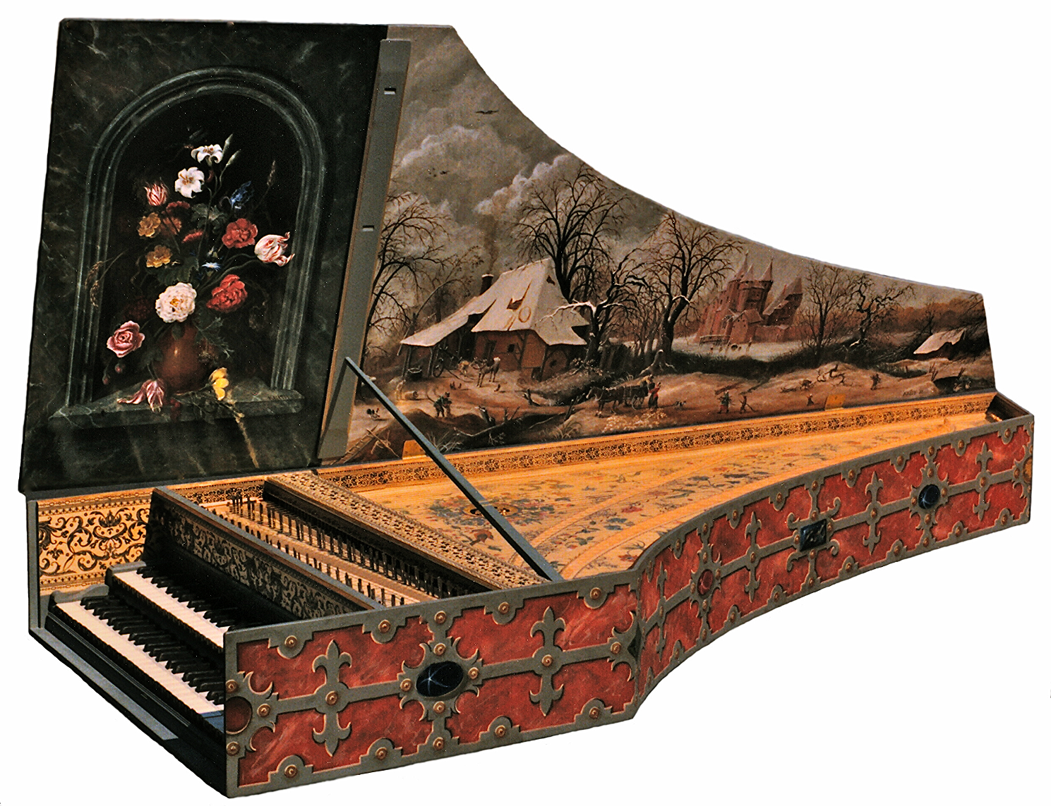 Flemish Harpsichord my opus 1 9 4 after the ahaus ruckers of 1 6 4 0 belongs to Mirelle Lagace in Montreal., canada