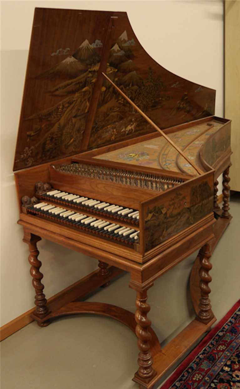 Harpsichord by Keith Hill Opus 4 8 made in 1977