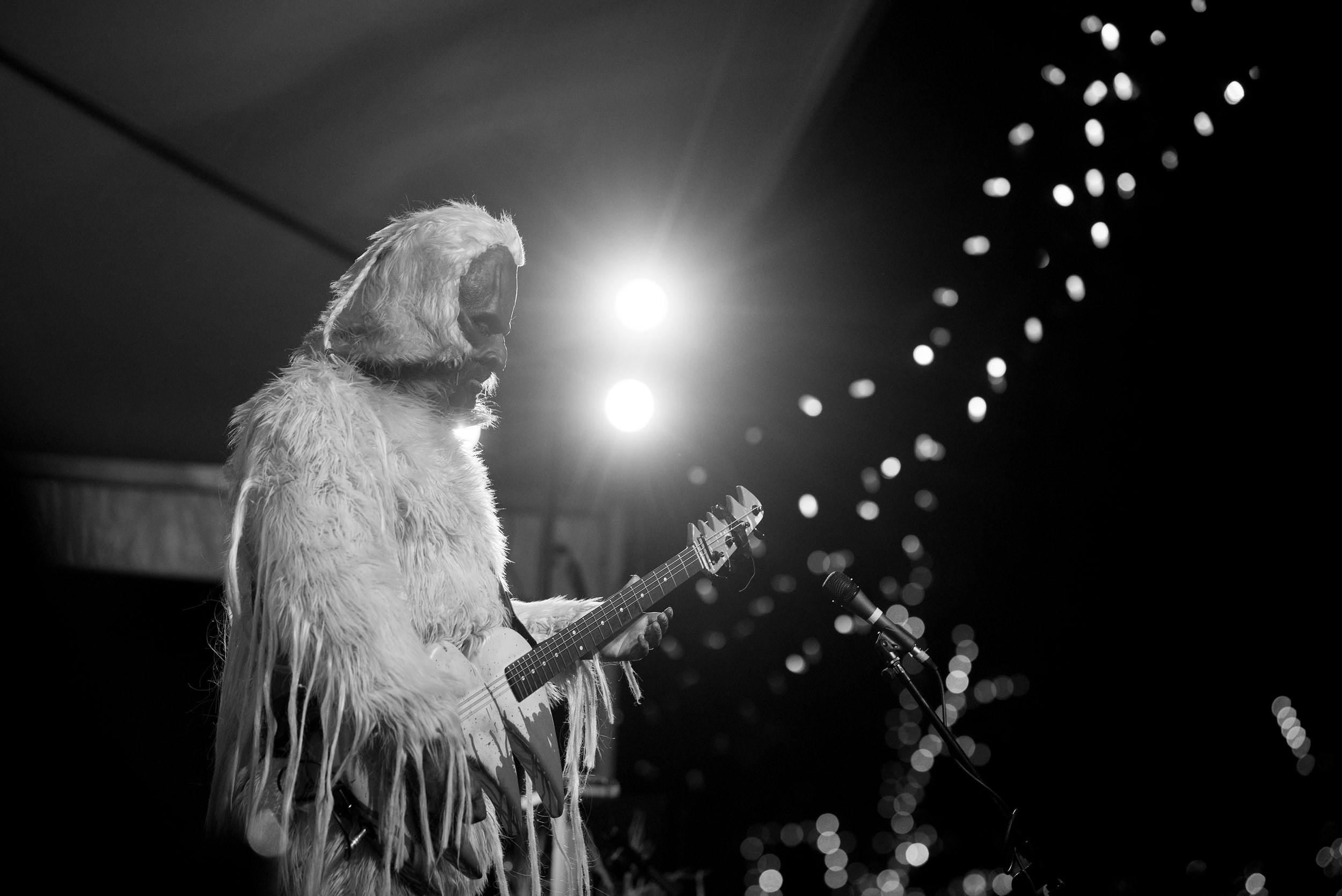 Donning full Sasquatch, PPL MVR on the Square Stage, Saturday night.