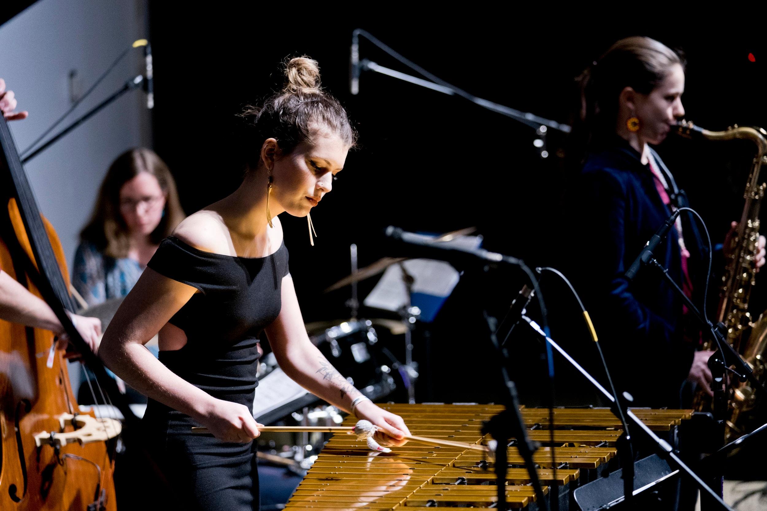 Sasha Berliner Quintet @NYC Winter Jazz Fest, 2018.  New York, NY.  John Rogers Photography.