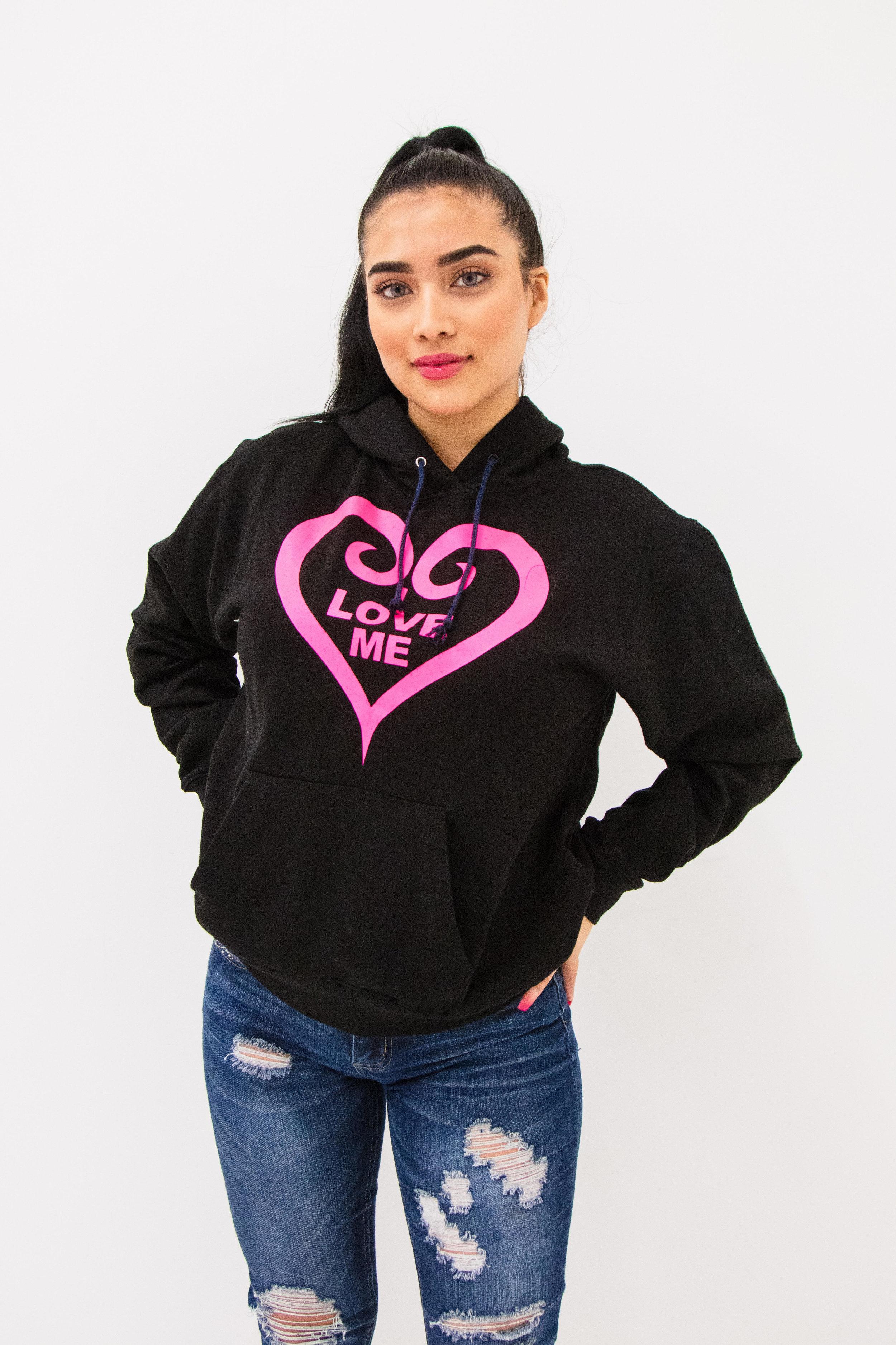 Black Hoodie, Hot Pink HeartShop Now -