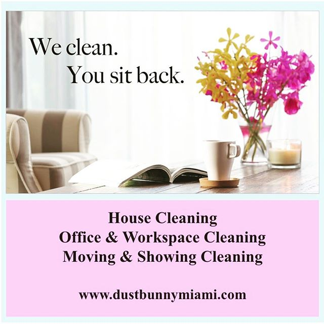Give yourself the gift of a #clean space and more time to do what you want. Book a #cleaning with us today! Link in Bio #DustBunnyMiami #NaturalCleaning