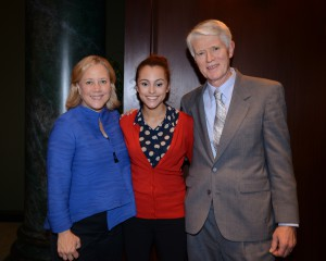 Photo:  CHERE's David Johnston withAlexandra (Lexie) Gruber, a member of the CHERE Advisory Board and a 2013 summer intern with the Congressional Adoption Institute, and Senator Mary Landrieu of Louisiana.