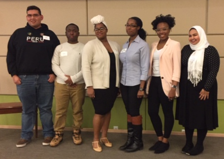 Members of the student panel on Dec. 6