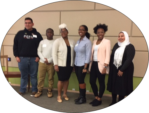 MEMBERS OF THE Student panel AT CHERE's 12/6/18 conference.