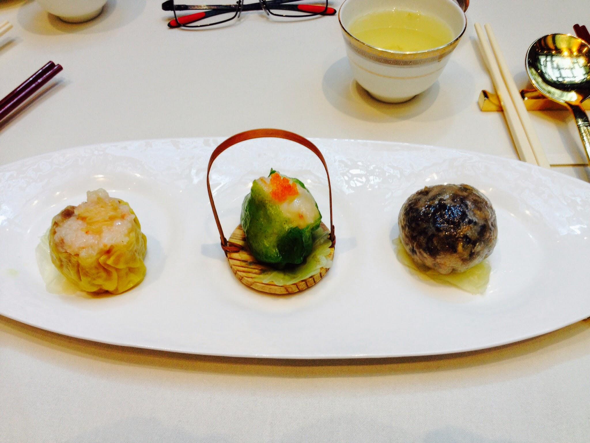 Trio dimsum selection (shark, prawn, crab)