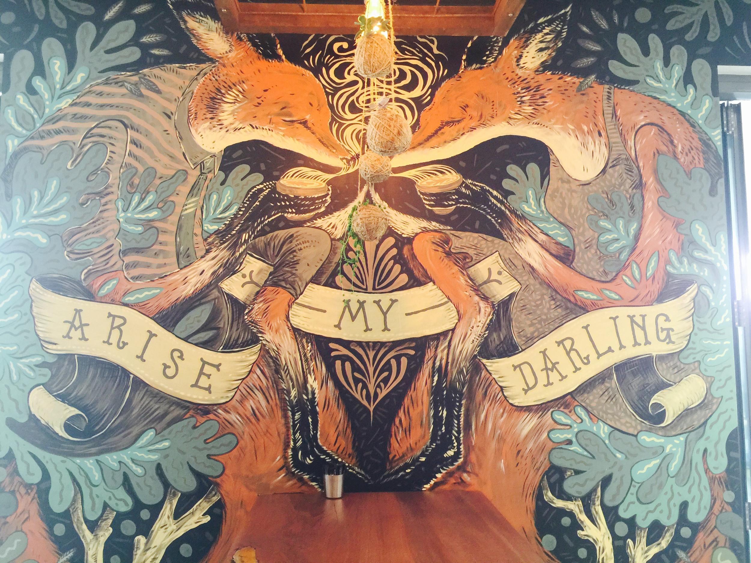 Timber Cafe Mural