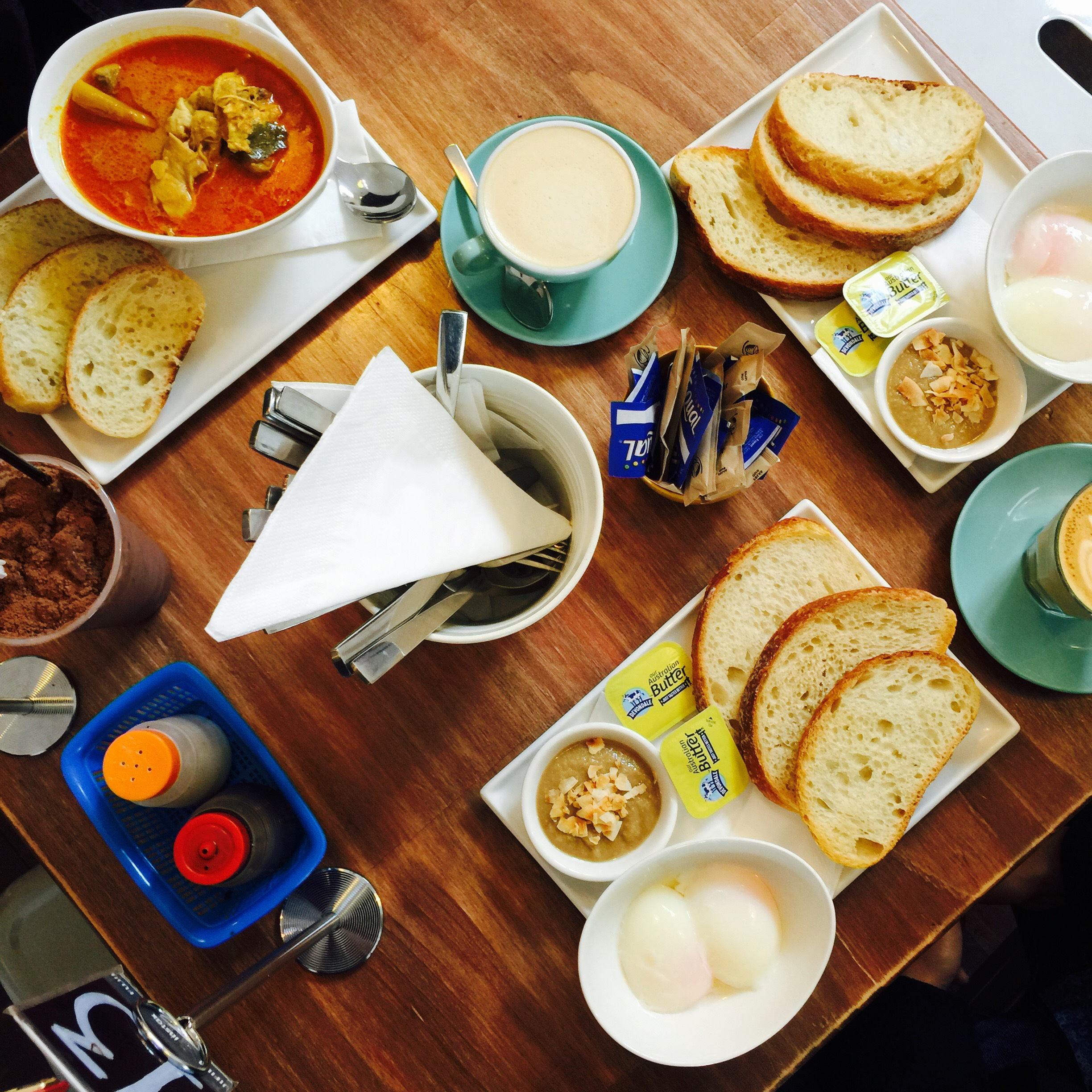 Mum's curry and two Singaporean breakfast