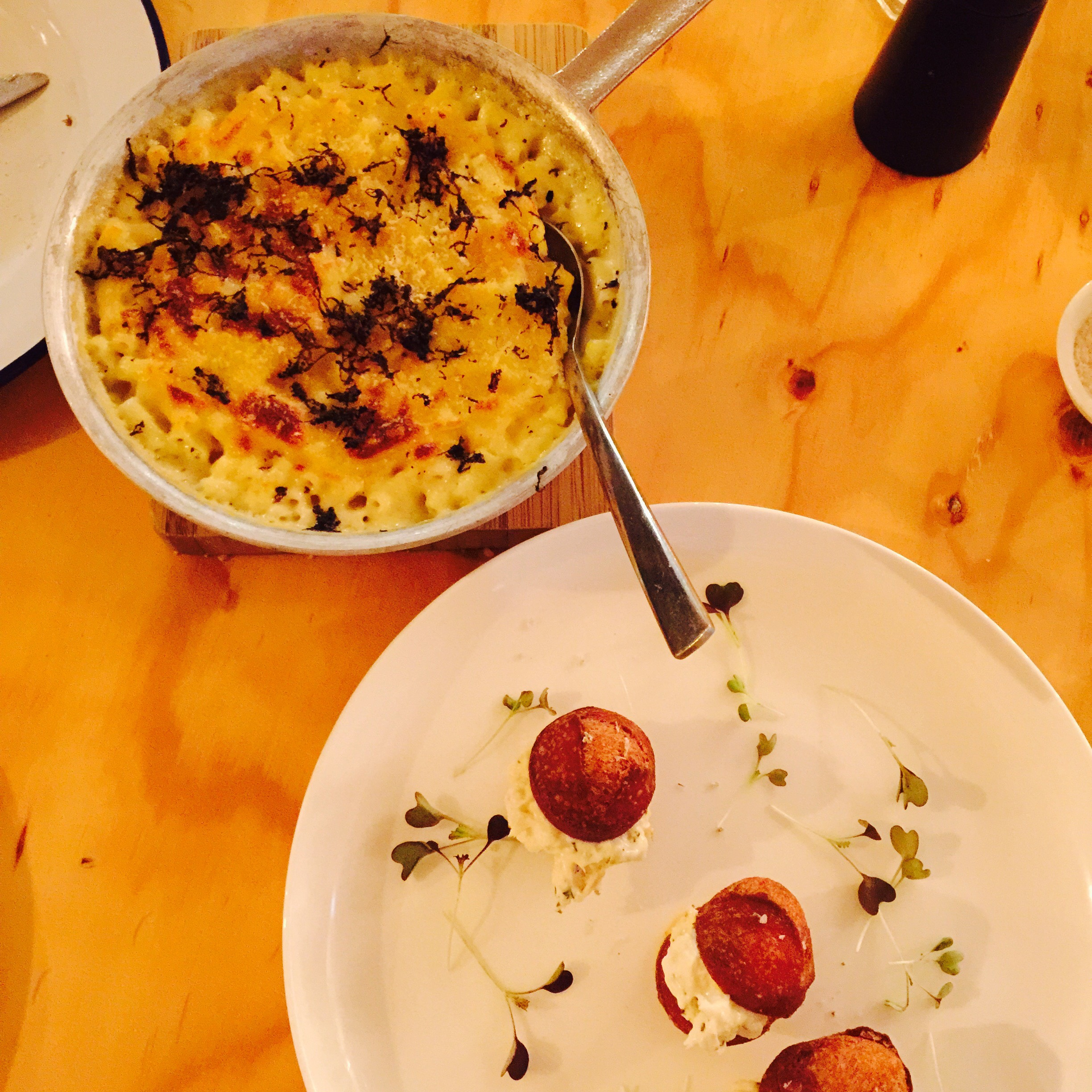 Truffled Mac n Cheese & Lobster Doughnuts