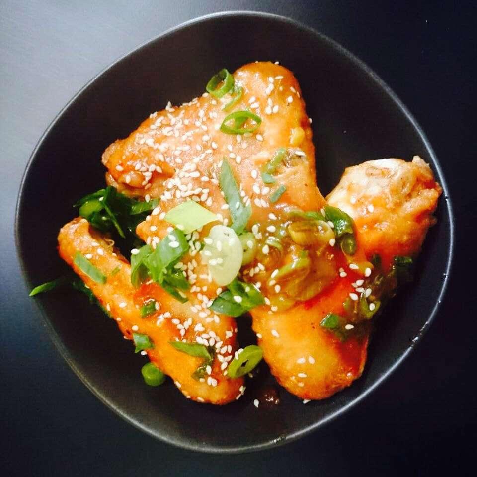 Spiced tamarind chicken wings