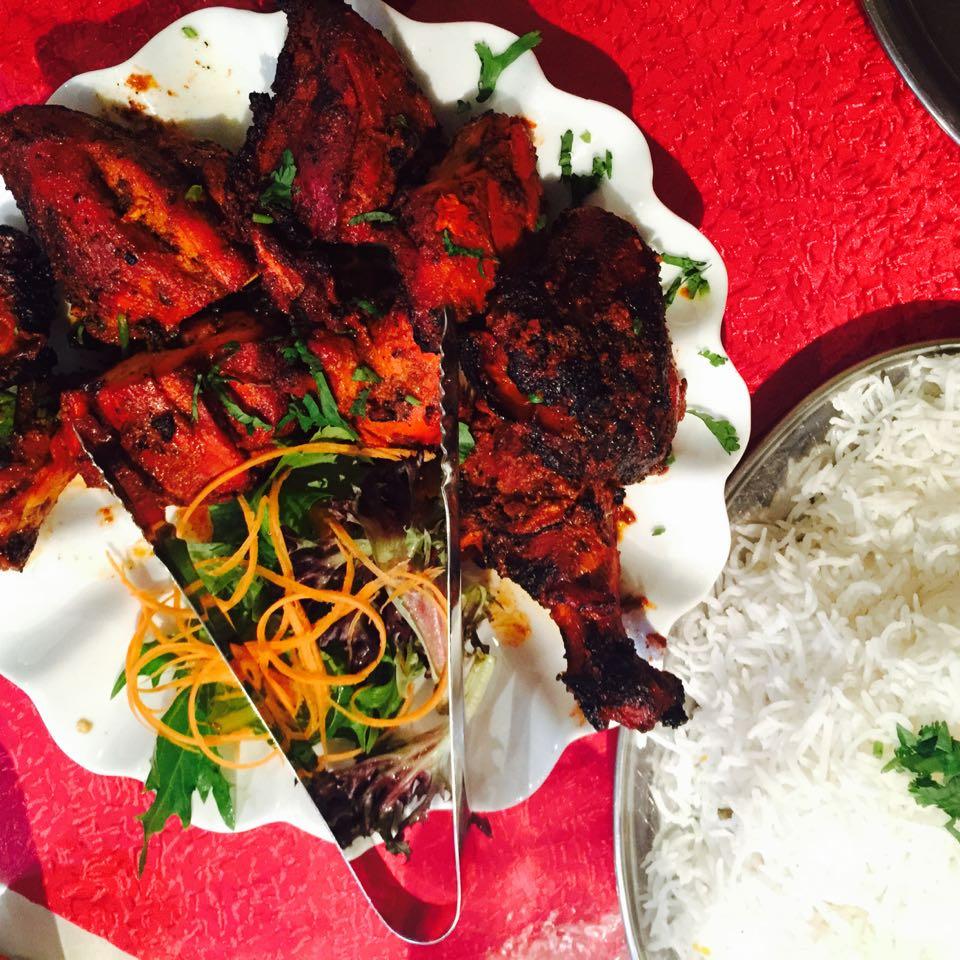 One whole tandoori chicken