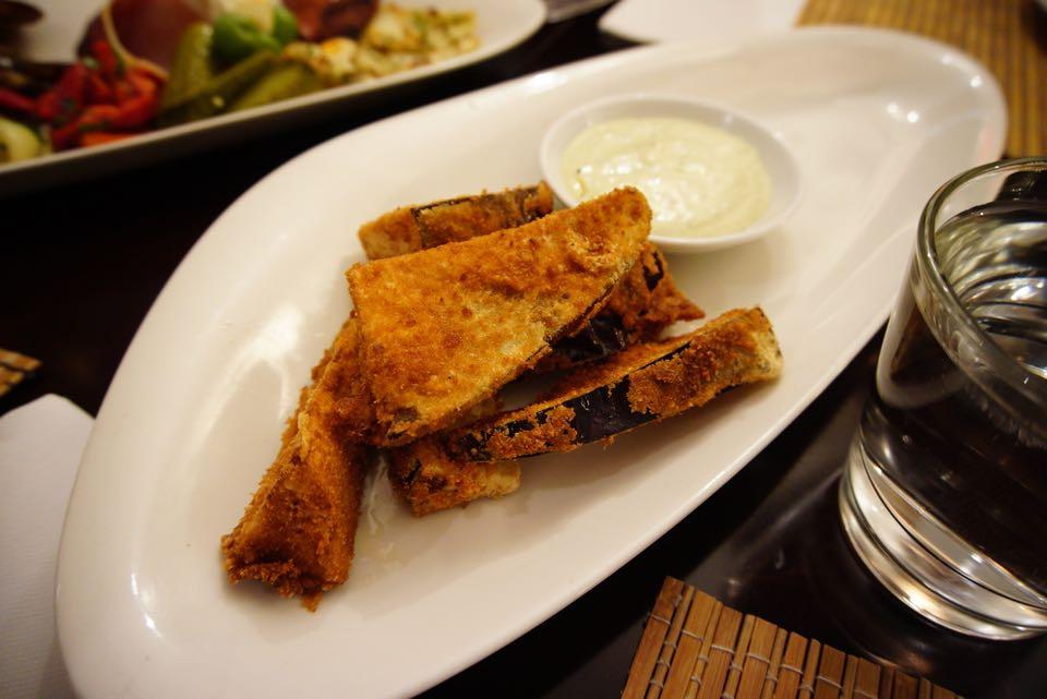 Azure Mt Hawthorn Crumbled eggplant chips with basil aioli