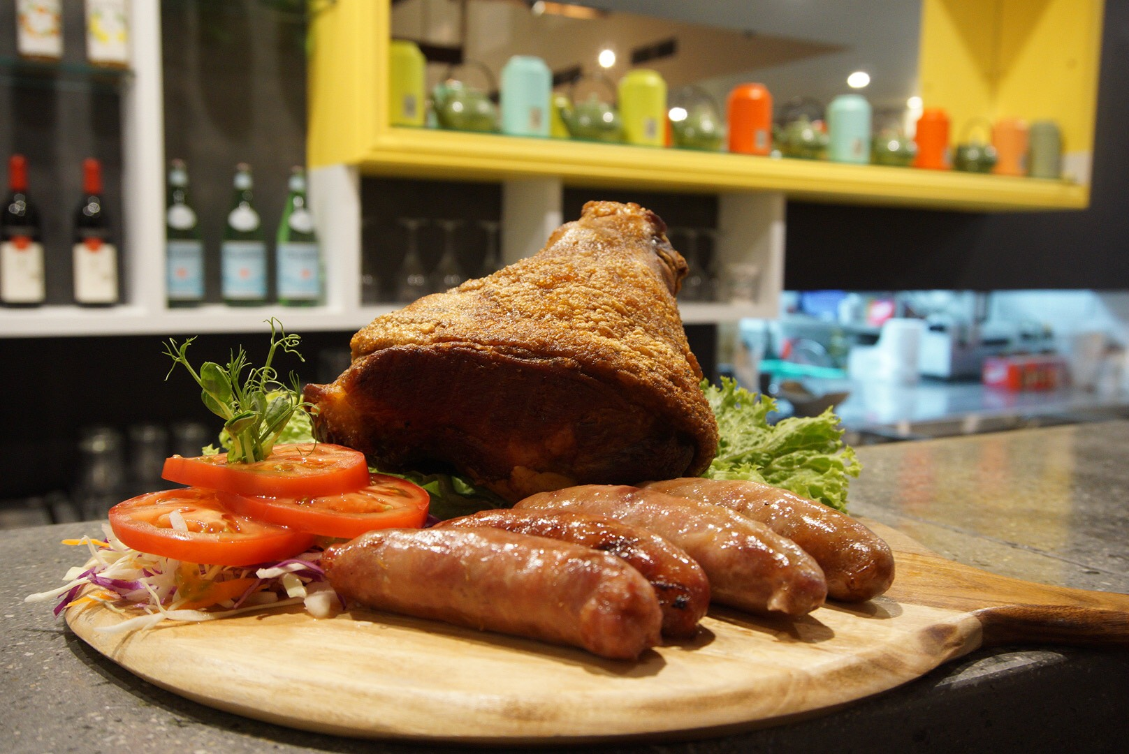 Fuzion Pork Knuckle with yummy Taiwanese sausages
