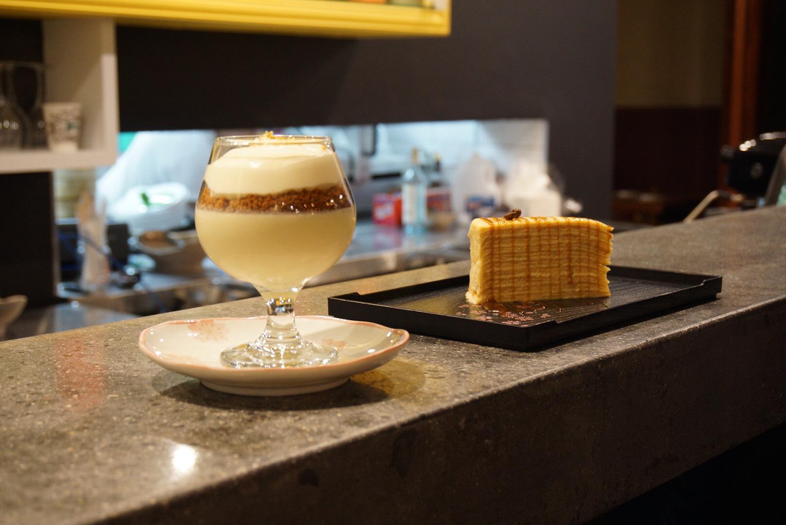 Yuzu Trifle and Caramel Macchiato Crepe Cake
