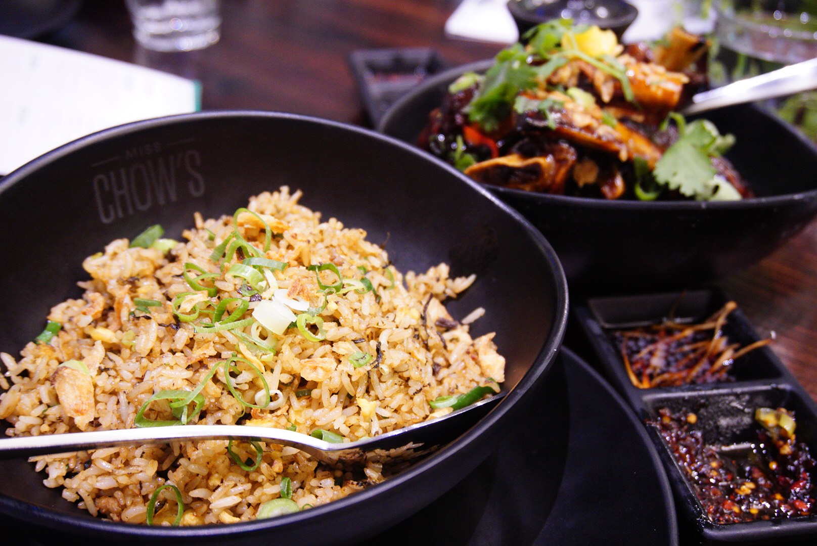 Miss Chow's Teochew Fried Rice with olive leaf