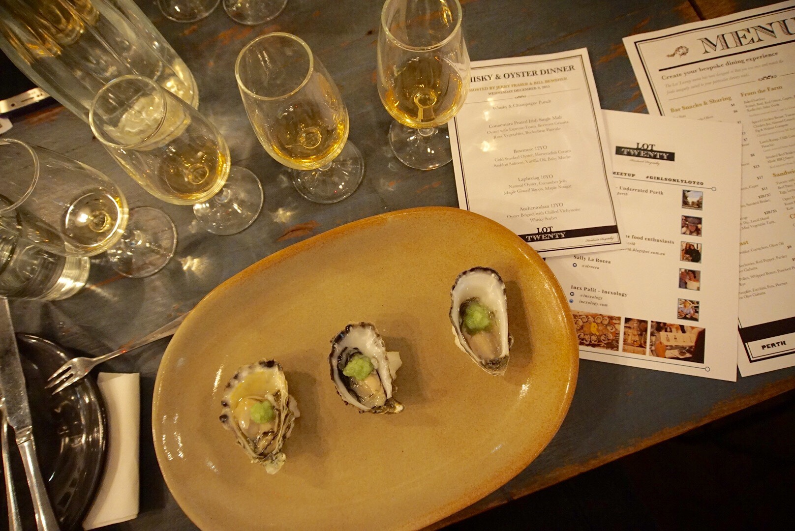 Natural Oysters with fresh cucumber jelly