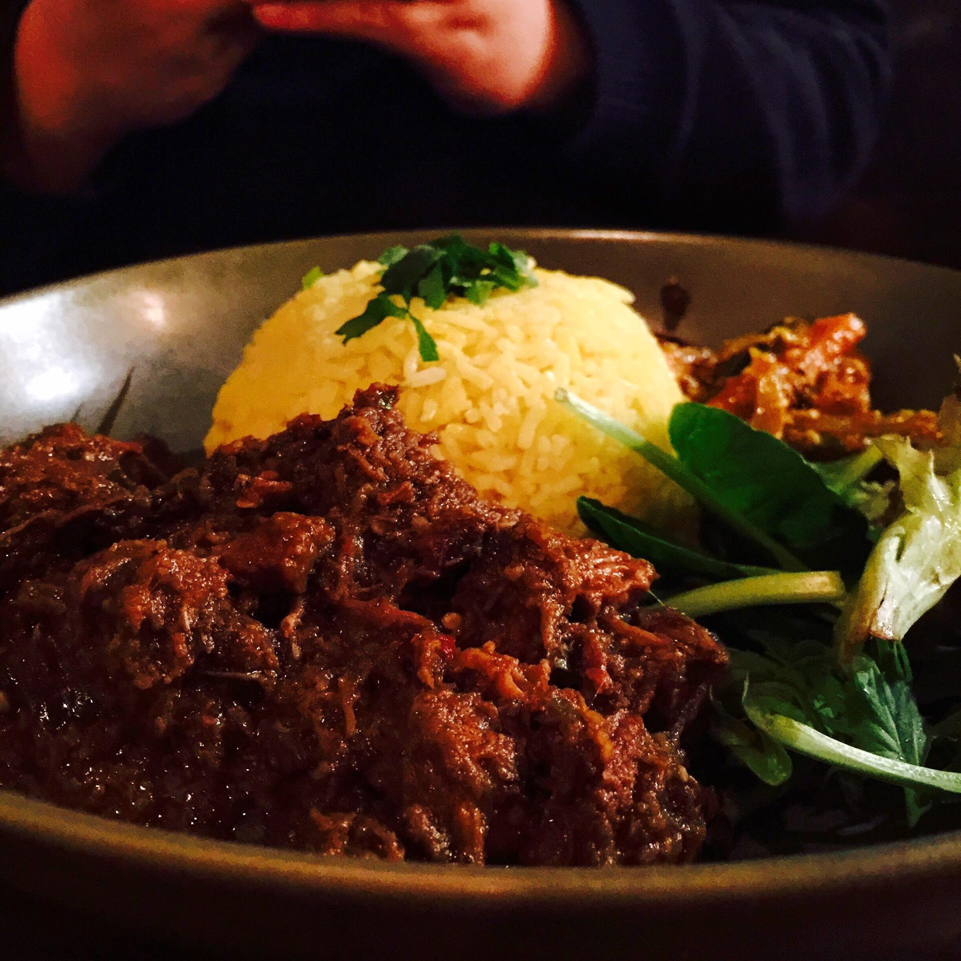 Nasi Lemak and Beef Rendang