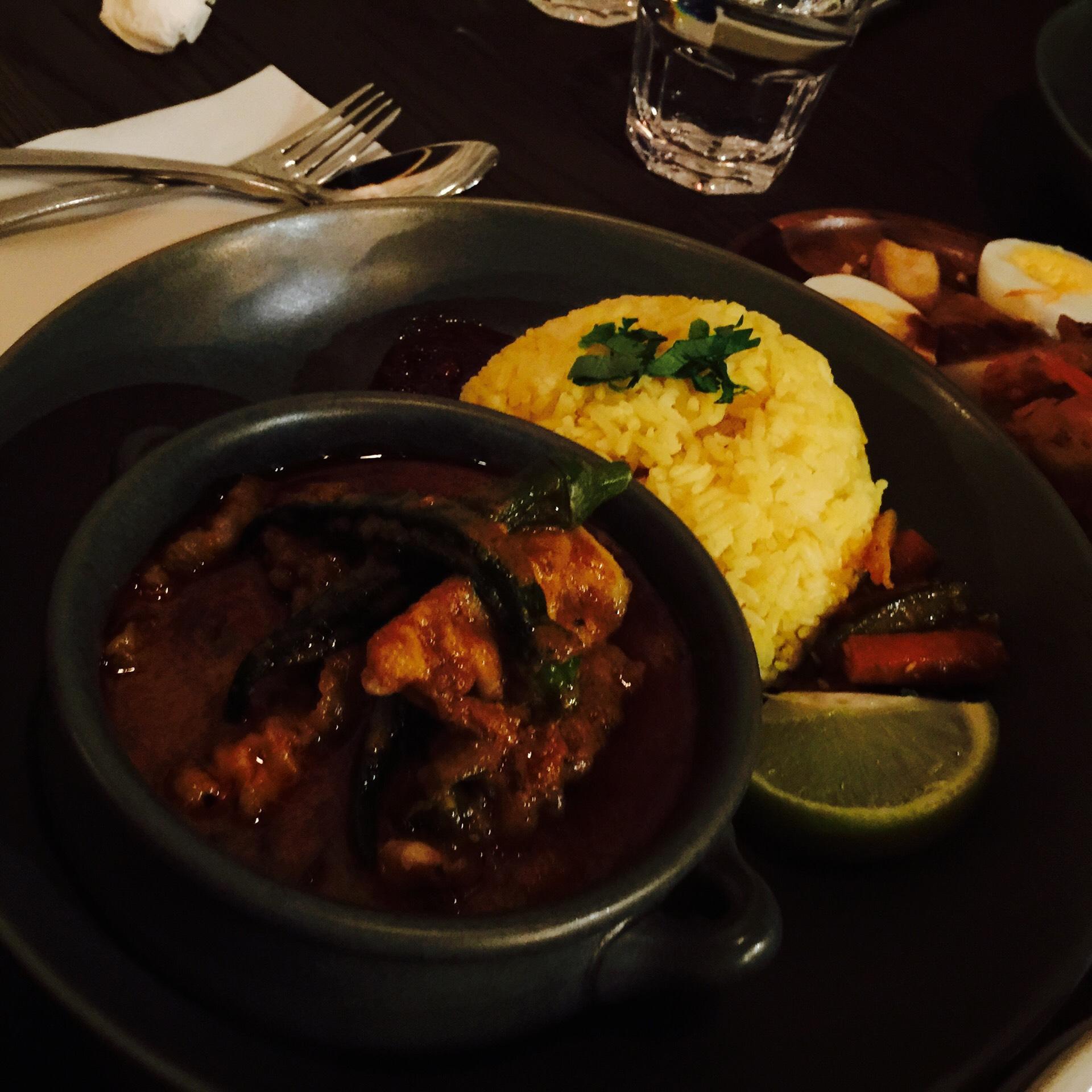 Curry assam fish at Nasi Lemak Korner
