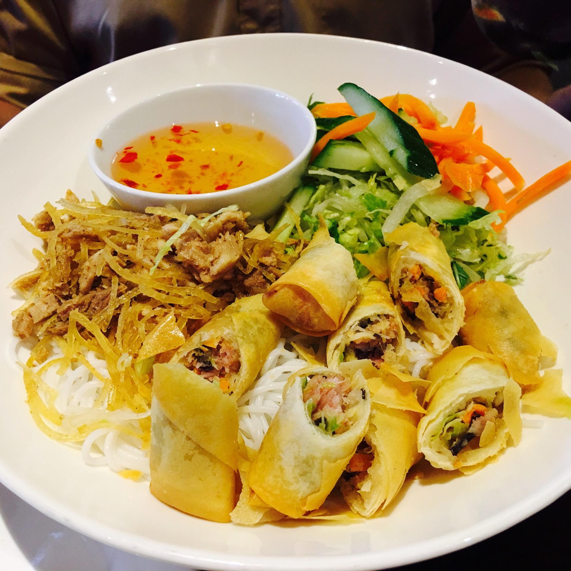 Bun Bi Cha Gio / Vietnamese Rice Noodle Salad with Shredded Pork from Pearl Restaurant