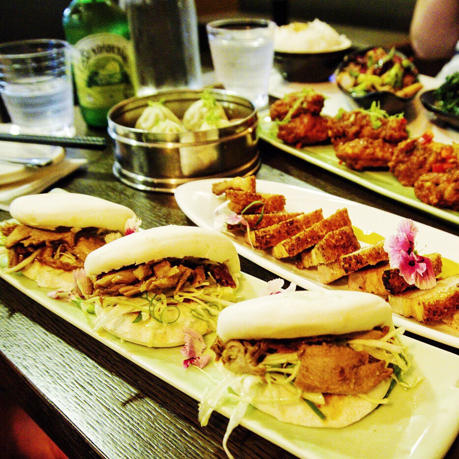 Bao, Pork Belly, CHicken Wings and XLB at Mouthful Duck
