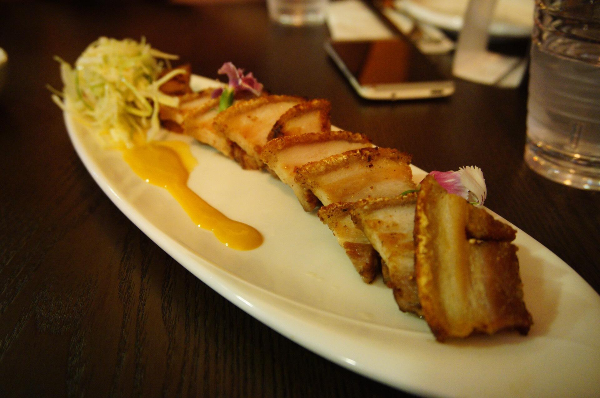 Crispy Pork Belly at Mouthful Duck Ellenbrook