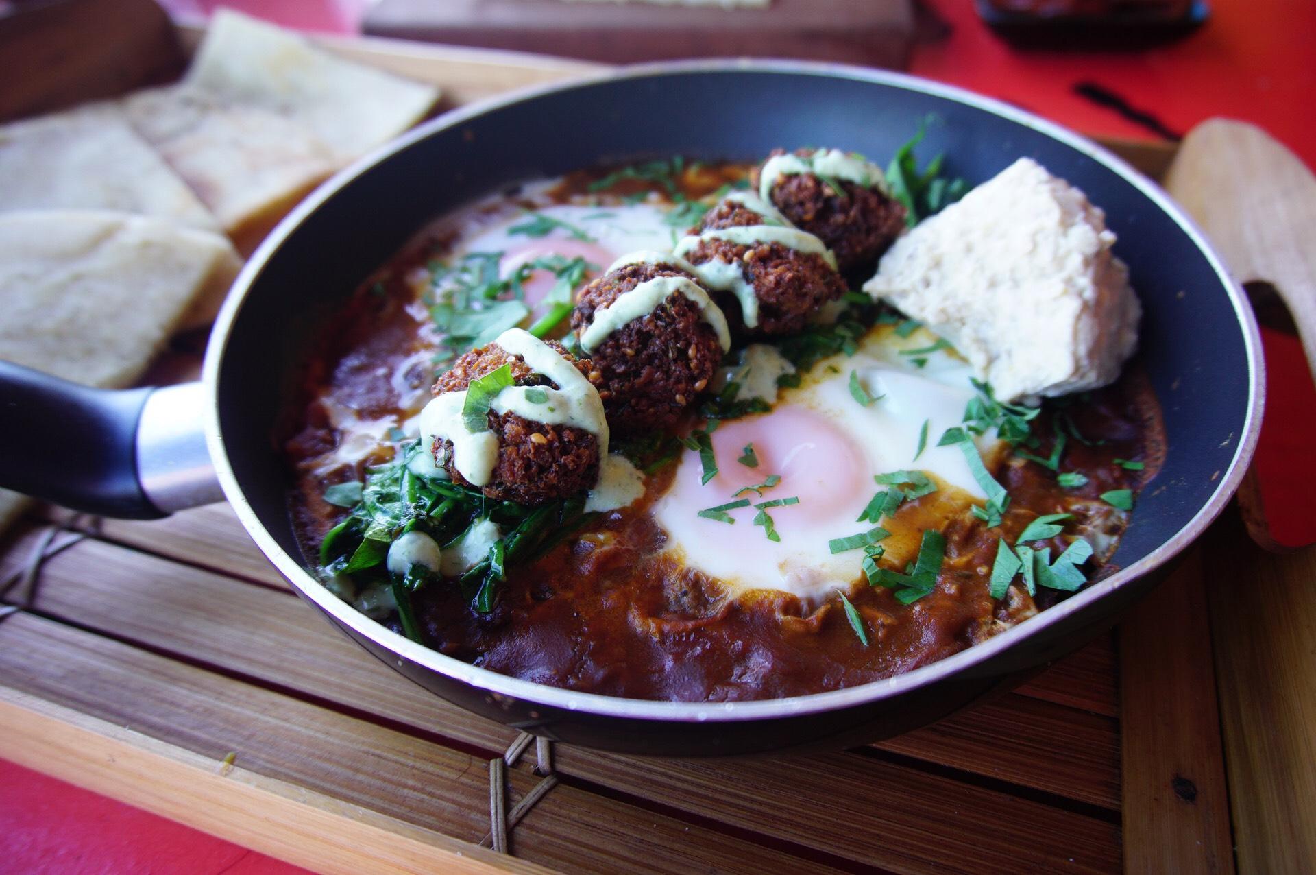 Eydor's Aussraeli Breakfast with Delicious Falafels