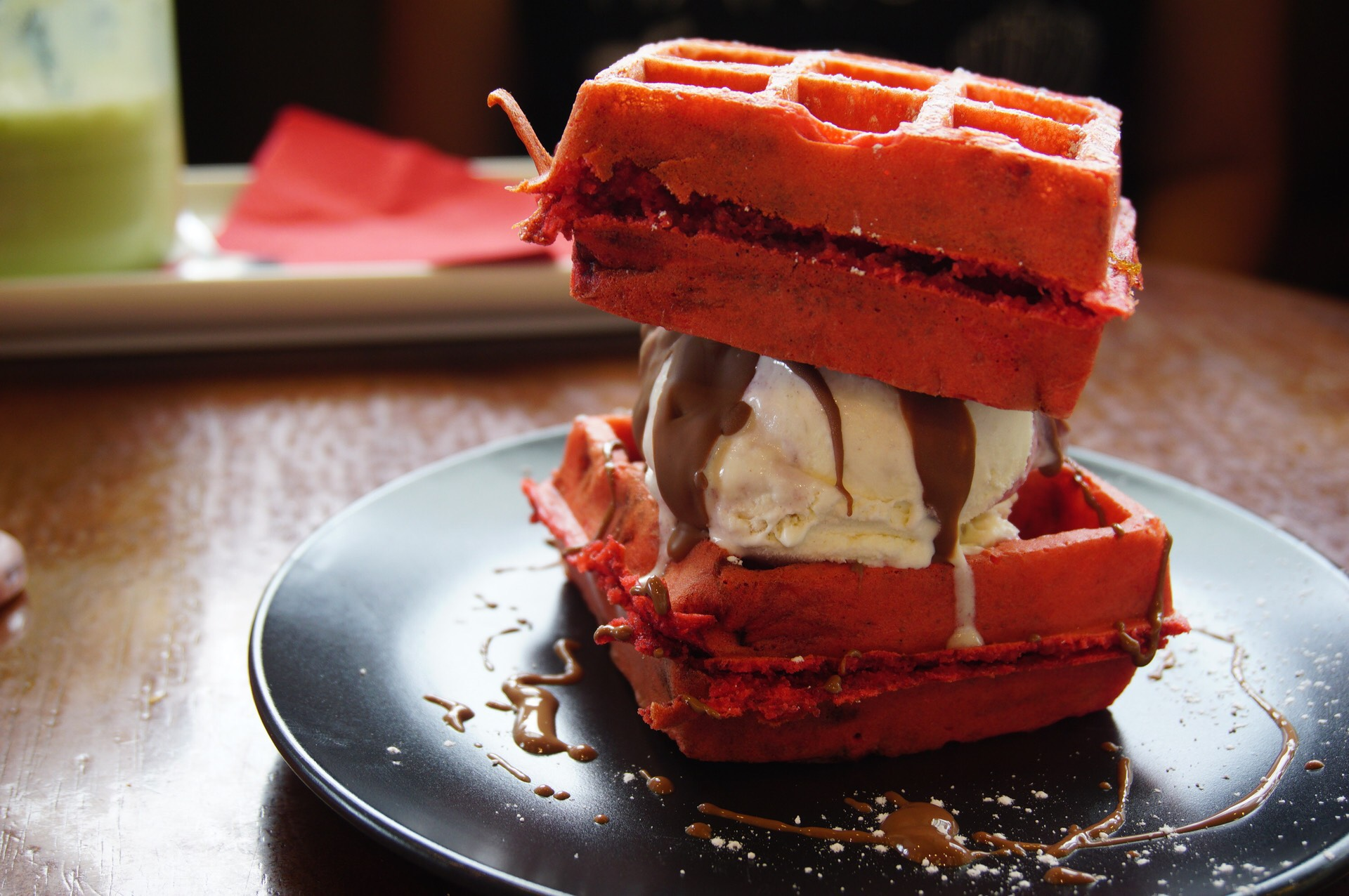 Red Velvet Waffle from Dessert Room