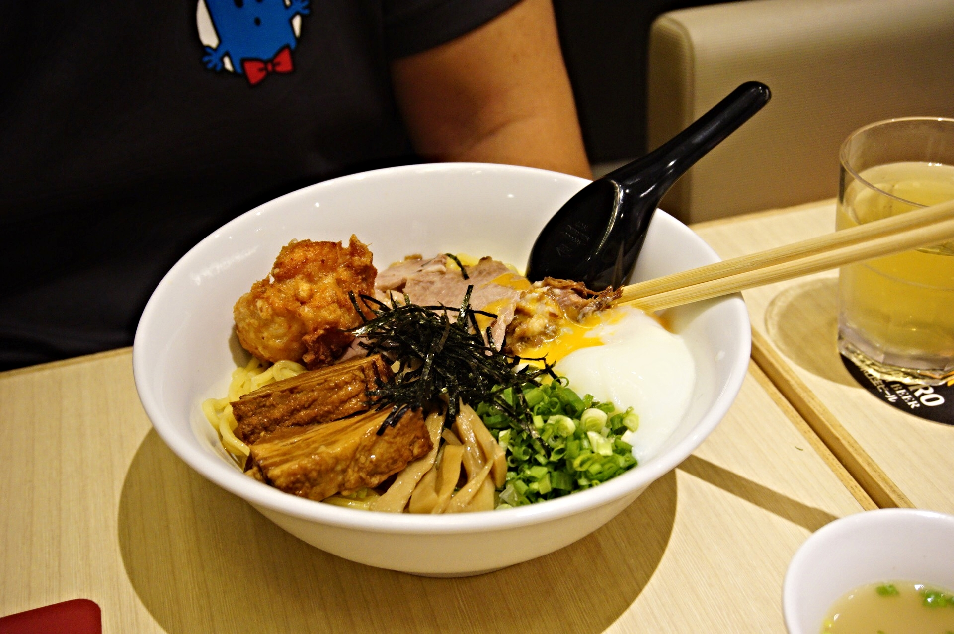 Mazesoba with all toppings