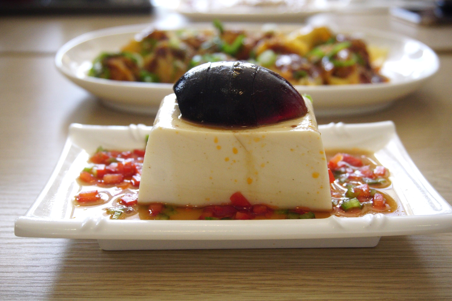 Tofu and Century Egg