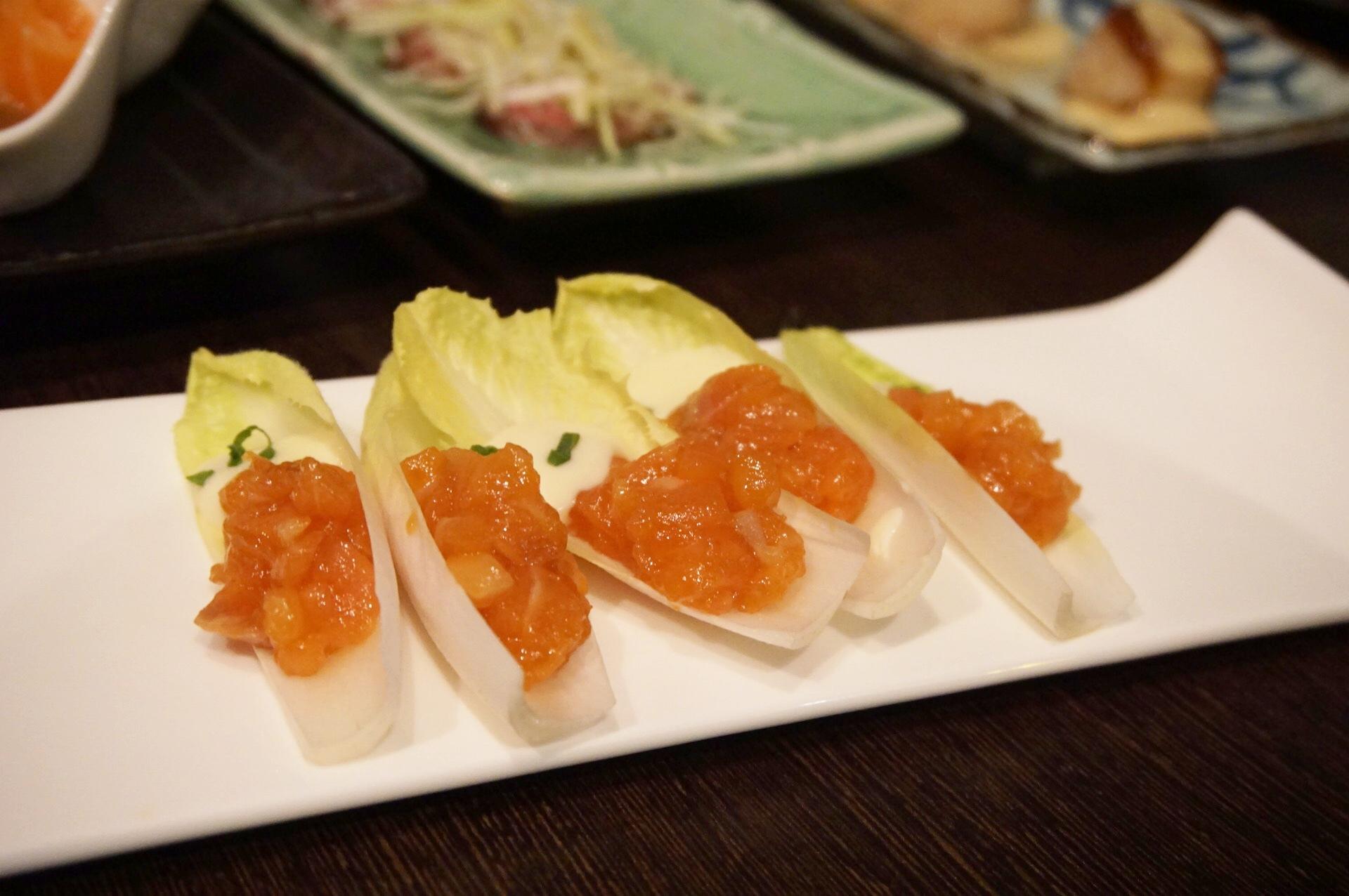Salmon Sashimi Bites