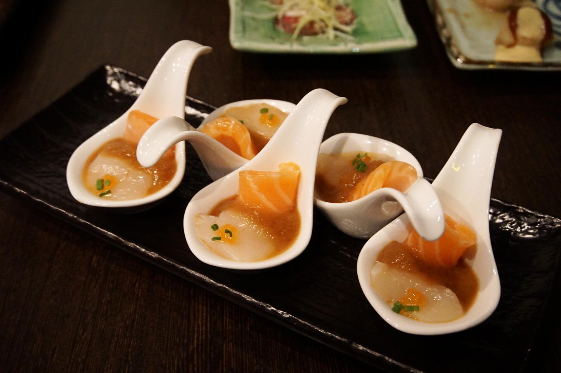 Fresh Sashimi Spoons Bonsai
