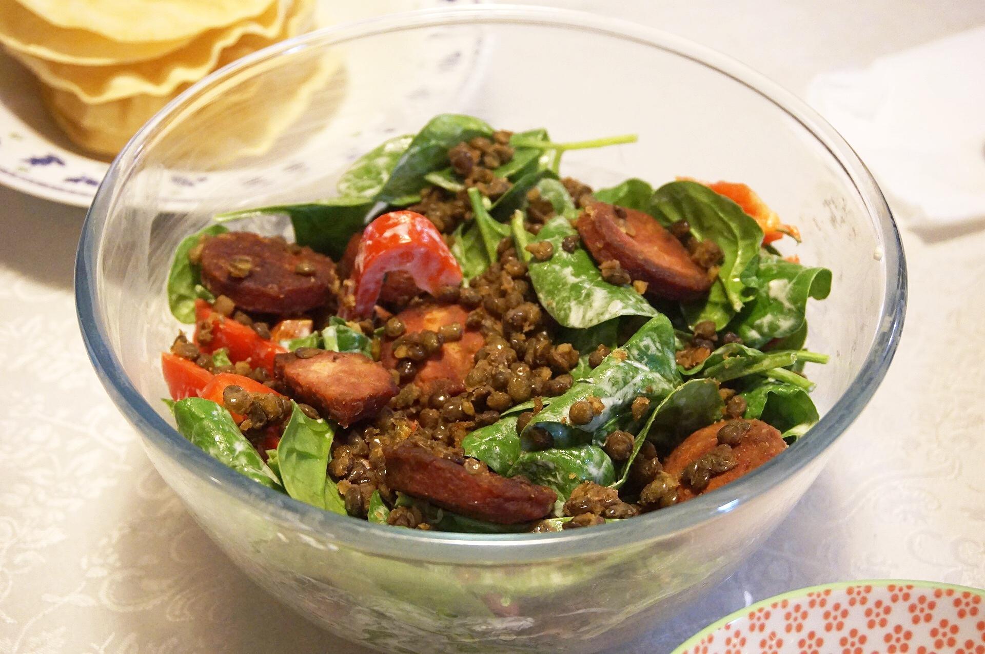 Lentil & Cacciatore Salad